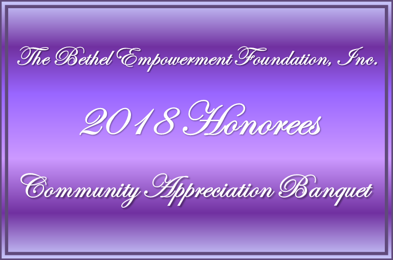 BEF 2018 Community Appreciation Banquet